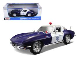 1965 Chevrolet Corvette Blue and White Police 1/18 Diecast Model Car by ... - $65.99