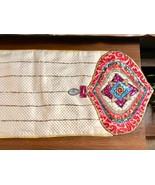 "CHRISTMAS TABLE RUNNER Jewel Ornament Pier 1 Sequins Beaded 72x13"" - $42.57"