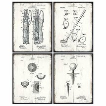 Golf Balls, Clubs, Tees, Bags Patent Print Wall Art - Rustic Room Decor for - $31.14