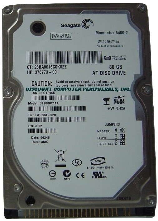 80GB IDE 2.5 in Drive Seagate ST9808211A Tested Free USA Ship Our Drives Work