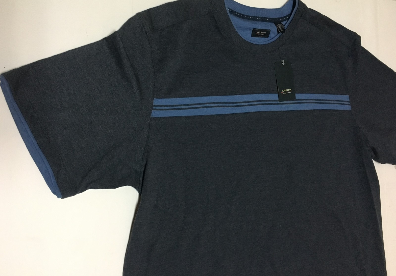 Arrow XL Men's Crew Polo Shirt Blue NWT