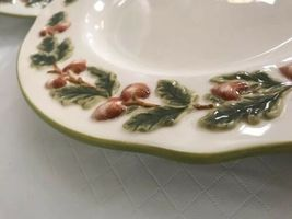Global Design Connections Kate Williams Dinner Plates (3) Acorn Leaves Fall image 7