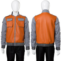 Back To Future Marty McFly Jr.Costume Faux Leather Coat Jacket Suit Cosplay - $82.00+