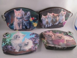 "Cat Kitten Kitty 5"" Keychain Coin Purse Pouch Choice Of 4 Different Cats... - $5.99"