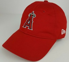 NewEra Los Angeles Angels MLB Merchandise Red One Size Strap Back Baseball Hat - £13.40 GBP