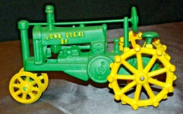 Old Vintage Cast Iron John Deere Tractor AA20-2176b Vintage Collectible