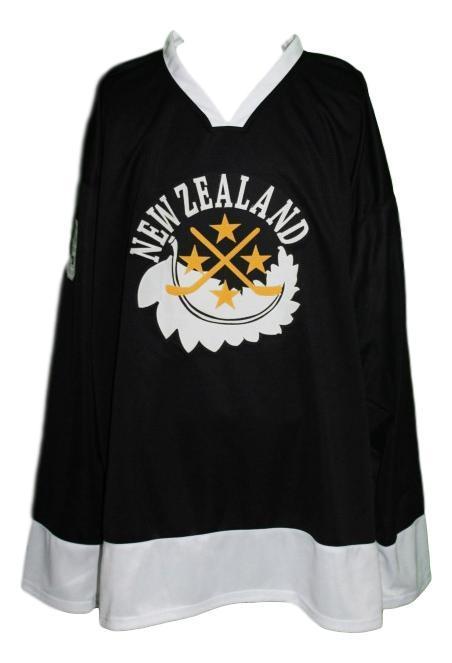 Team new zealand retro hockey jersey black   1