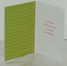 Hallmark XZH 349 1 Family Gift Red White Tie Christmas Card Red Envelope Package image 3