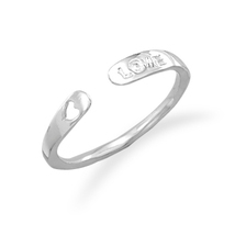 Sterling Silver Small Adjustable Love Ring - $32.95