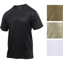 Performance Quick Drying Solid T-Shirt Tactical Military Crew Workout Ar... - $12.99+