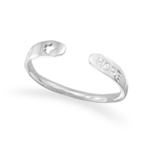 Sterling Silver Small Adjustable Hope Ring - $32.95
