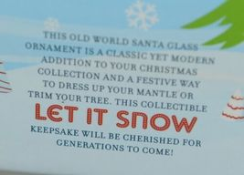 Twos Company Let It Snow Old World Santa Glass Ornament Set 2 Different Scenes image 7