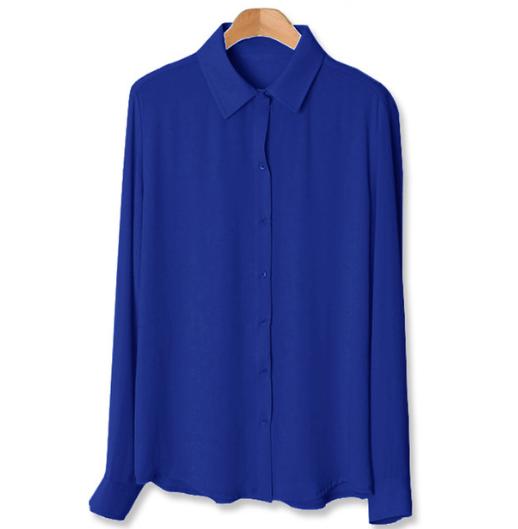 Juniors chiffon long sleeve button front shirt