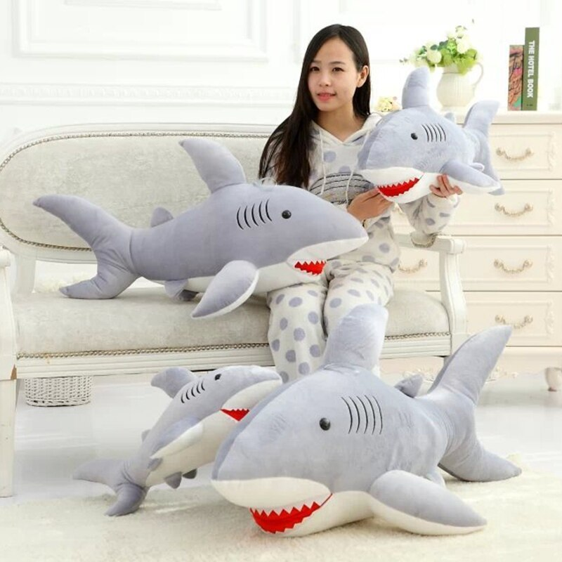 High Quality 70cm Shark Plush Toy Stuffed Pillow Doll Birthday Gift Kids Toy Bab image 4
