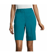 "Worthington Women's Plus Bermuda Shorts Size 22W Tahitian Tide 11.5"" Ins... - £21.74 GBP"