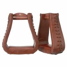 Chestnut Tough1 Royal King Oversized Western Leather Stirrup 3 Neck 3 Tr... - $49.49