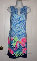 NWT LILLY PULITZER BENNET BLUE LETS MANGO ENGINEERED HARPER SHIFT DRESS - $80.18+