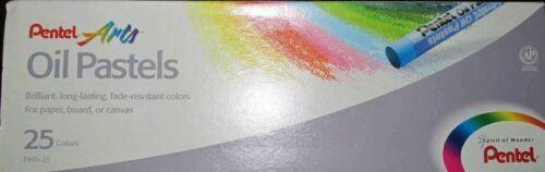 25 Pc Pentel Arts Brilliant Colored Oil Pastel Acid-Free Long Lasting Drawings
