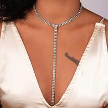Jewdy® Rhinestone Choker Necklace Women Multi Row Crystal Statement Fashion - $3.62+