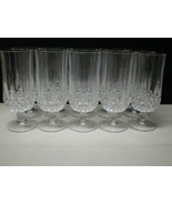 10 Cristal d'Arques Longchamp Footed Lrg Ice Tea Tumblers ~~~ discontinued  - $99.95