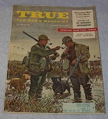 True the Man's Magazine October 1956 Fred Ludekens Cover