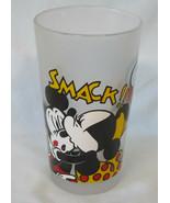 "Disney Monkeys of Melbourne Minnie Kissing Mickey Glass 5"" Tall - $30.58"