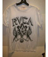 MEN'S GUYS RVCA CREST SHORT SLEEVE TEE T SHIRT WHITE BLACK NEW $30 - $17.99