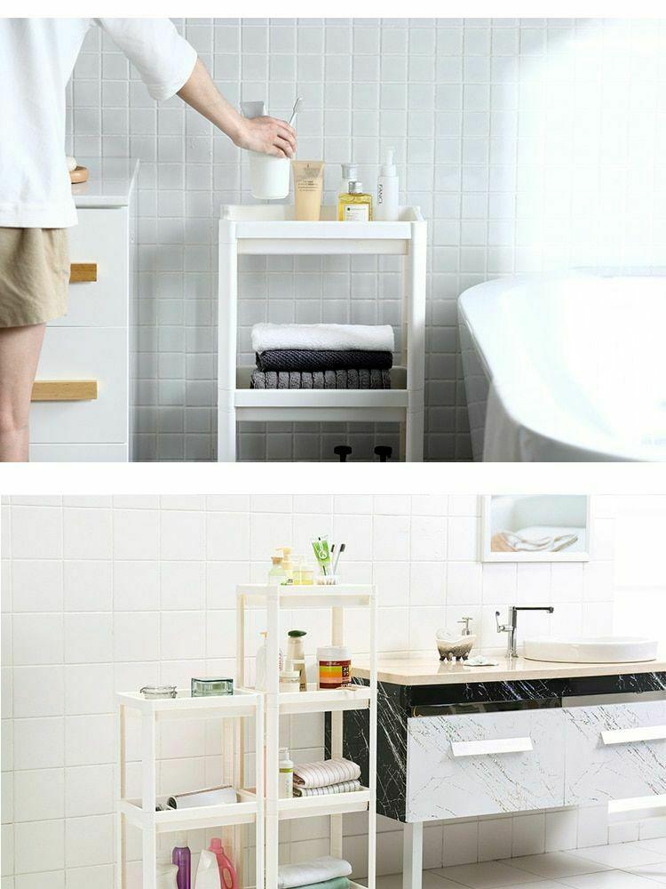 Rack Shelf Kitchen Side Plastic Storage Shelves Multi Functional House Organizer image 12