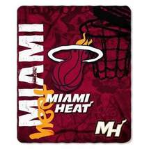 Miami Heat Blanket 50x60 Fleece Hard Knock Design - $31.66 CAD