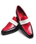 Men's Handmade Burnished Cap Toe Genuine Leather Stylish Shoes,Men Fashion Shoes - $144.99 - $169.99