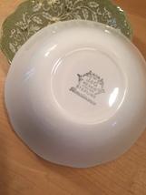 """Set of 2 vintage 60s J & G Meakin Renaissance (green) pattern  6 1/4"""" bowls image 7"""