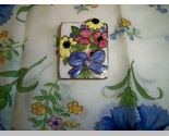 Vintage ceramic floral brooch1 thumb155 crop