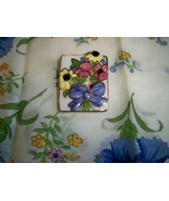 SALE! Vintage Ceramic Floral Bow Brooch  - $9.99