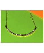 Rhinestone Bar Necklace - $12.97