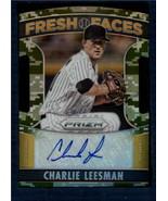 2015 Prizm Fresh Faces Camo Prizm Signatures #17 Charlie Leesman NM-MT I... - $7.91