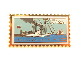 Walk in The Water 1818 Vintage Boat USPS 25cent USA Postage Stamp 1989 P... - $39.60