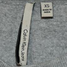 Calvin Klein Jeans Women's Gray Logo Crop Crew Neck Sweatshirt Size XS image 3