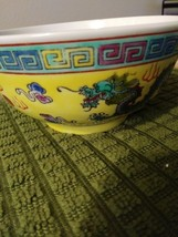 Vintage Chinese Porcelain Bowl,Oriental Decor, Hand Pained Dragon Phoenix ,Asian image 1