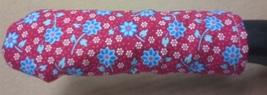 Blue Flower on Red Cast Iron Skillet Pot Handle Cover Holder - $2.50+