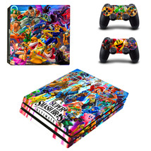 PS4 Pro Console 2 Controllers Super Smash Bros Ultimate Vinyl Skin Stickers Wrap - $14.00