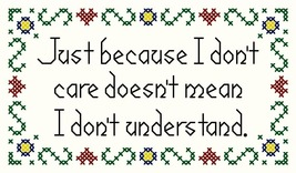 Just Because I Don't Care PDF cross stitch John Shirley new designer - $71,21 MXN