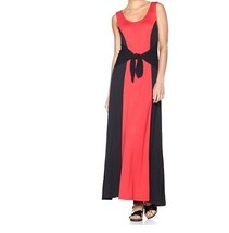 Women''s Cruise evening party day work office stretch knit tie maxi dres... - $69.29