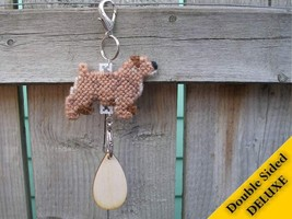 Norfolk Terrier Deluxe crate tag 2 sided, hang anywhere, agility dog sho... - $15.00