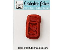 Crackerbox Palace Rubber Cling Glass Jar Stamp image 2