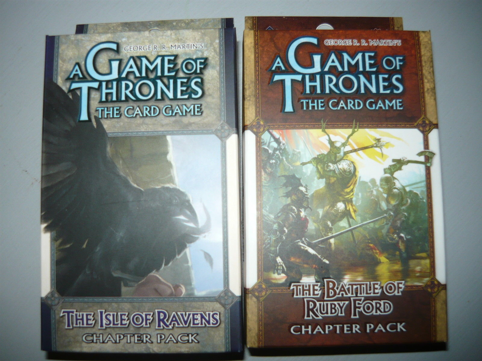 A Game of Thrones chapter pack lot of 2 the isle of ravens battle of ruby ford