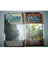 A Game of Thrones chapter pack lot of 2 the isle of ravens battle of rub... - $10.98