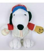 "Snoopy Peanuts Met Life Baseball Player Plush Stuffed Animal 5.5"" - $14.99"