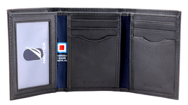 Nautica Men's Genuine Vintage Leather Credit Card Id Trifold Wallet image 6