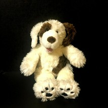 Build-A-Bear Workshops Wooly Brown and White Spotted Dog Plush Appliqued... - $21.77