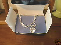 Avon Simulated Diamond CZ Heart Necklace